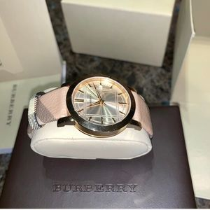 Women's Burberry Watch with Original Pattern Band